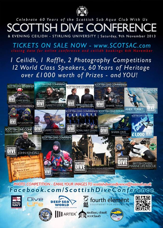 Scottish Dive Conference, John Kendall GUE Cave 1, Suex UK distributor, Santi UK Distributor, Rosemary E Lunn, Roz Lunn, The Underwater Marketing Company, Shane Wasik, Andy Torbet, Fourth Element, thermal underwear, Neal W Pollock, scuba PR, diving events organised