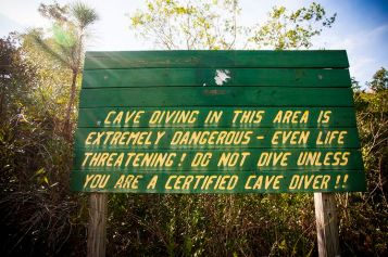 Eagles Nest, Diving Warning Sign, diving safety, Rosemary E Lunn, Roz Lunn, The Underwater Marketing Company, scuba diving, cave diving, rebreather diving