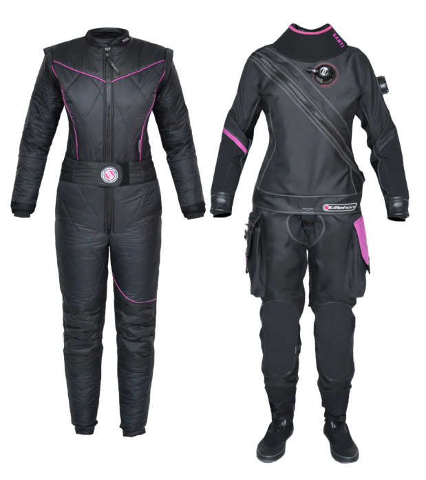 Santi Ladys First Drysuit_Rosemary E Lunn_Roz Lunn_The Underwater Marketing Company_X-Ray Magazine_Jill Heinerth_Becky Kagan Schott_thermal stress_Dr Neal W Pollock_John Kendall