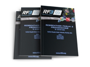 Rebreather Forum 3 Proceedings, RF3, 2014, Rebreather Forum 3, RF3, Dr Nick Bird, Mark Caney, Dr Petar Denoble, Rosemary E Lunn, Roz Lunn, Christian MacDonald, Dan Orr, Dr Neal W Pollock, Dr Drew Richardson, Karl Shreeves, Dr Richard Vann, AAUS, DAN, PADI, The Underwater Marketing Company, rebreather diving, scuba diving, American Academy of Underwater Sciences