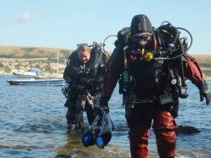 Rosemary  E Lunn, Roz Lunn, The Underwater Marketing Company, Poseidon rebreathers, James Roberton, Lisa Shafe, Steve Newman, Swanage diving, south coast diving, O'Three drysuits, Hollis F2 fins,