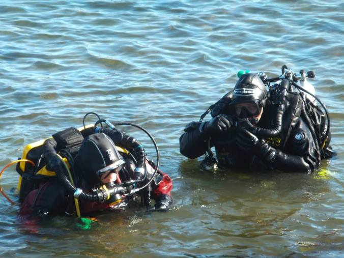 Rosemary E Lunn, Roz Lunn, Poseidon Rebreathers, The Underwater Marketing Company, Lisa Shafe, James Roberton, Jared Hires, Dive Rite Transpac XT, O'Three Drysuits, Swanage Pier, Divers Down, shore diving in the UK, St Albans BSAC, AP Diving, scuba diving, rebreather diving