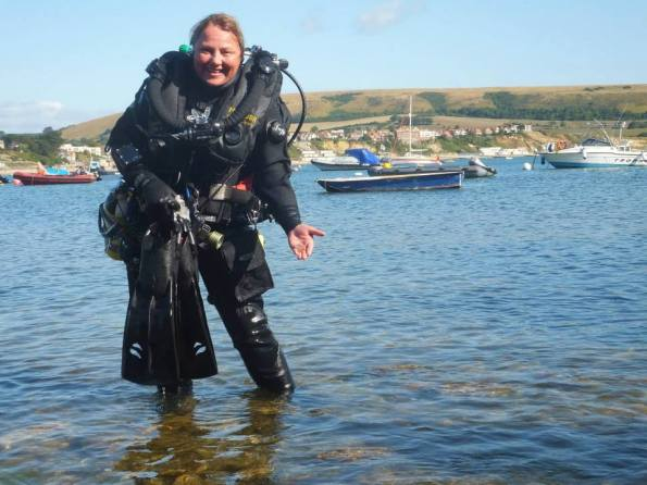 Rosemary E Lunn, Roz Lunn, The Underwater Marketing Company, Poseidon rebreathers, Poseidon Ambassador, Simon Morris, Steve Newman, Adam Wood, James Roberton, OThree drysuits, Hollis fins, Swanage diving, rebreather diving, Divers Down, Shearwater Petrel