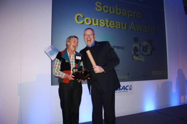 Scubapro Cousteau Award, Jeff Reed, Margaret Baldwin, BSAC DOC, BSAC Awards, Rosemary E Lunn, Roz Lunn, The Underwater Marketing Company, Mary Tetley