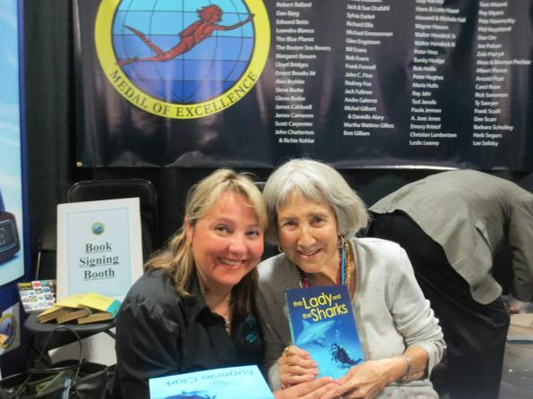 Dr Eugenie Clark, the Shark Lady, The Lady And The Shark, Beneath The Sea, Rosemary E Lunn, Roz Lunn, The Underwater Marketing Company, National Geographic, Women Divers Hall of Fame, International Scuba Diving Hall of Fame, Wyland Icon Award