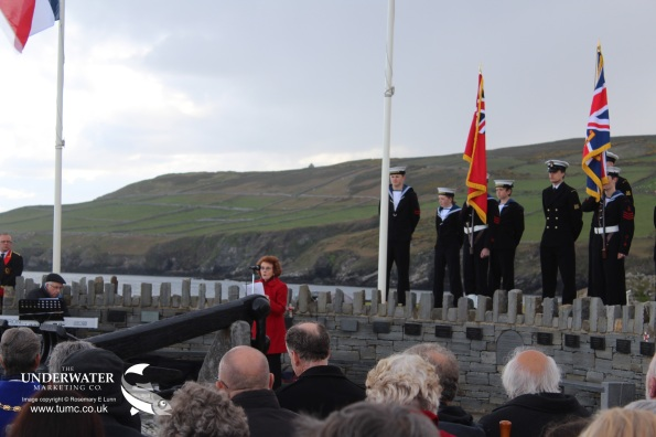 TSS Mona's Queen III Anchor Memorial, Kallow Point, Isle of Man, Port St Mary, King Orry, Fenella, Isle of Man Steam Packet Company, Rosemary E Lunn, Roz Lunn, The Underwater Marketing Company, Scuba diving days out, Rained off, Pam Evans, Dunkirk survivors