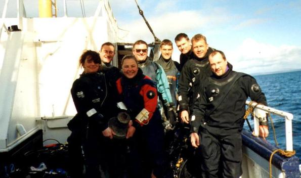 Sally Cartwright, Rosemary E Lunn, Roz Lunn, Fraser Purdon, Martin Robson, MV Karin, John Thornton, Scapa Flow, Otter Drysuits, The Underwater Marketing Company, diving planning, technical diving