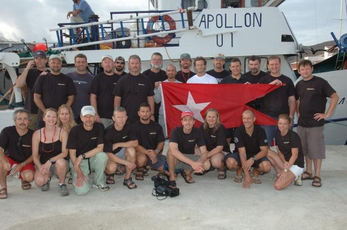 Britannic 2006 Dive Team, Joe Porter, Evan Kovacs, John Chatterton, Richie Kohler, Rosemary E Lunn, Roz Lunn, Martin Parker, Mike Fowler, Petar Denoble, Carl Spencer