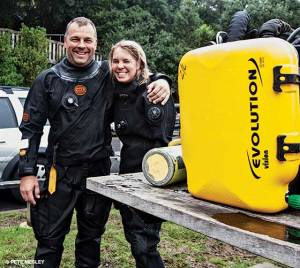 Yolly Bosiger, Pete Mesley, Australasian OWUSS Rolex Scholar, scuba diving scholarships, Rosemary E Lunn, Roz Lunn, The Underwater Marketing Company