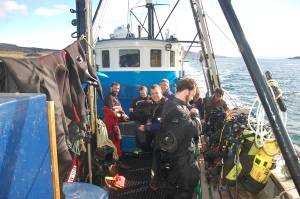 MV Halton, Huddersfield BSAC, Bob Anderson, Rosemary E Lunn, Roz Lunn, The Underwater Marketing Company, scuba diving jobs, Scottish Diving