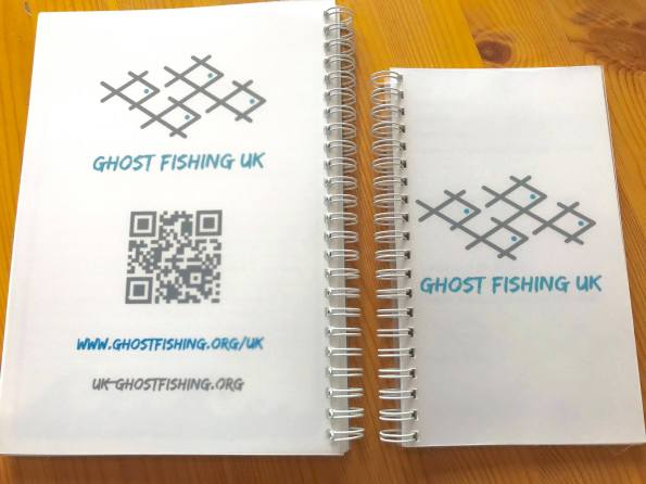 Pascal Van Erp, Richard Walker, Dive Proof, waterproof note books, Rich Walker, Ghost Fishing UK, Rosemary E Lunn, Roz Lunn, The Underwater Marketing Company, Fourth Element, recycle, reuse, ghost gear