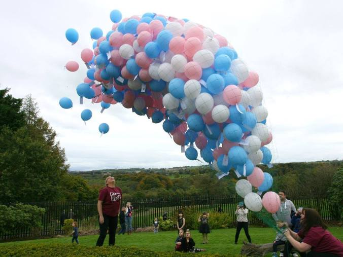 Delia M. Webb, Baby Loss Awareness Week, Life After Loss, Belfast, balloon release, Malone House, Belfast City Council, environmental policy, Cornwall, balloon litter, Rosemary E Lunn, Roz Lunn, The Underwater Marketing Company, scuba diving, Jennifer Birtwhistle, horse killed, Fiesty